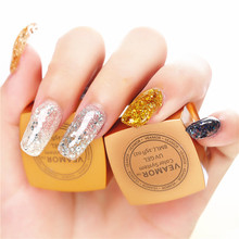 UV Builder Glitter Gel Nail Polish 3PCS/LOT Soak Off UV Gel Long Time Lasting Nail Gel Polish Shining Colors(China)
