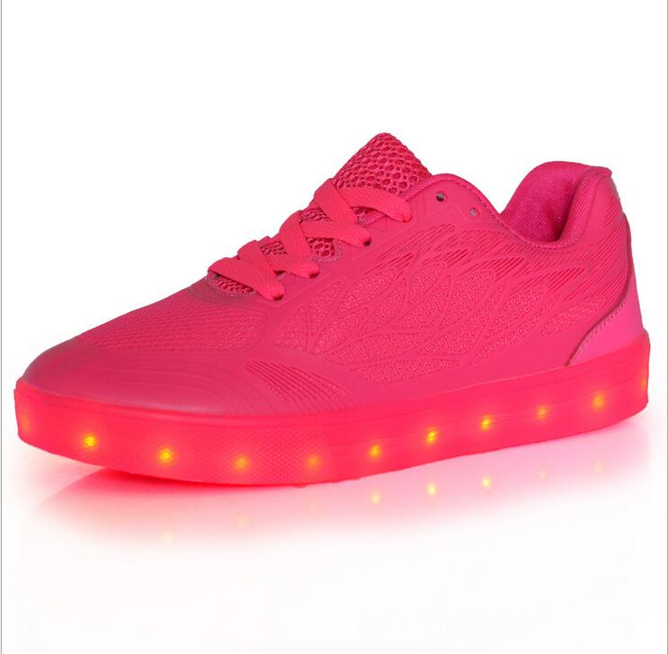 2016 men light up led luminous shoes recharge for men adults neon basket color glowing casual fashion with new simulation sole<br><br>Aliexpress