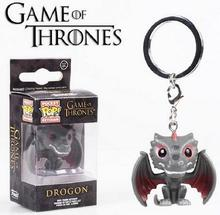 Funko POP Game of Thrones Drogon Keychain a Song of Ice and Fire Jon Snow Daenerys Targaryen Fire Dragon Pocket Figure Vinyl Toy