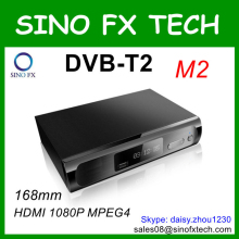 168mm DVB-T2 set top box SF-M2 full hd 1080p MPEG4 digital tv receiver DVB T2 wholesale