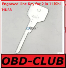 20pcs Original Engraved Line Key for 2 in 1 LiShi HU83 Peugeot/Citroen scale shearing teeth blank car key locksmith tools