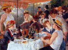 Free shipping High quality renoir oil painting reproduction old master handmade painting Luncheon-of-the-Boating-Party
