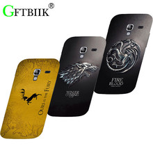 Cartoon Case For Samsung Galaxy Ace 2 II i8160 8160 gt-i8160 Hard Plastic Case Fashion Printed Football Cover Game of Thrones 7