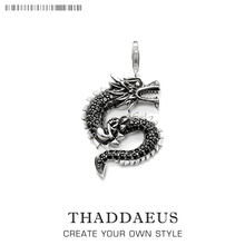 Classic Dragon Charm Pendant Thomas Style Charm Lobster Clasp Club Good Jewelry 2016 New Women & Men Gif In 925 Sterling Silver