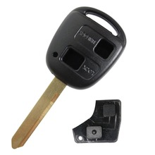 Uncut Replacement Blank Remote Key Shell Case for Toyota Avensis Yaris Auris 2 Buttons Key Cover TOY47 Blade + Rubber Button Pad