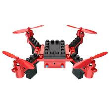 Building Blocks RC Drone with Camera 6 Channel RC Assembling DIY Blocks Quadcopter Building Brick Helicopter Toy for Kid(China)