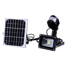 10W 60 LED Chip LED Solar Lamps Lights ColdWhite light Outdoor Solar Flood lights Garden Spotlight Lamps With PIR Motion Sensor