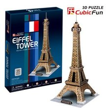 Candice guo! 3D puzzle toy CubicFun world's great architecture 3D paper model jigsaw game Eiffel Tower