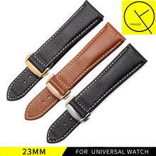 YQ Calf Genuine Leather Bands Folding Clasp for Blancpain FIFTY FATHOMS for Citizen Watches Business Man Accessories Watchband(China)