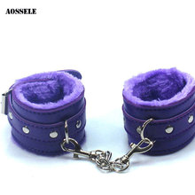 Buy Sexy SM Handcuffs PU Leather Shackles Wrist Cuffs Roleplay Adult Game Sex Toy Couples Women MEN BDSM Flirting Bondage Toy