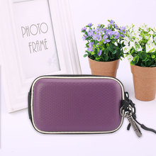 PU+EVA Hard Shock Resistant Compact Digital Camera Case Double Zipper Protective Bag Pouch For Sony Nikon Canon Camera