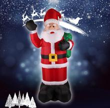 2.4m Inflatable Santa Claus Black Hand Christmas Inflatable Santa Claus Cute Xmas Party Decoration Outdoor Inflatable Statues