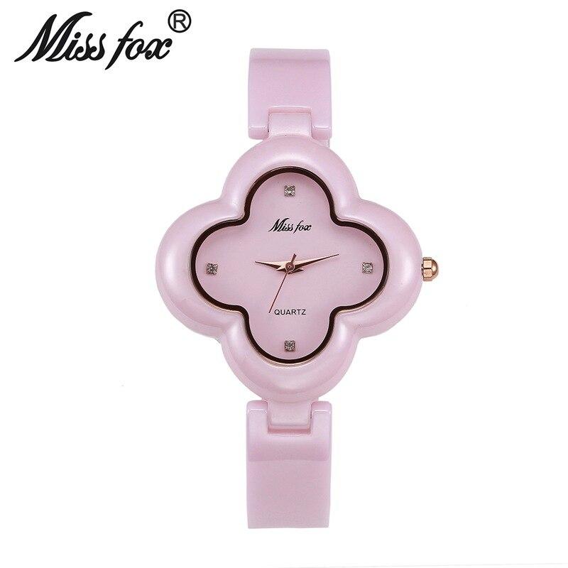 Miss Fox Brand Fashion luxury Ladies Wrist Watches Quartz Timepiece Women Ceramic Watch clocks best gift relojes mujer<br>