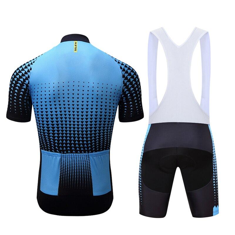 TELEY Damen Radtrikot Set Fahrradbekleidung Kurzarm 3D Gel Pad Shorts