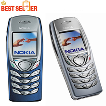 Original Refurbished 6100 Phone Unlocked 2G GSM Tri-Band Nokia 6100 Mobile Cell Phone