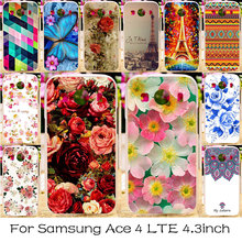 TAOYUNXI Silicone Plastic Case For Samsung Galaxy Ace 4 LTE G357FZ Flower Bag Case Cover Ace Style LTE G357 SM-G357FZ  Cover
