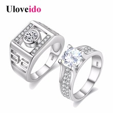 49% off New Fantasy Cool Exclusive Sona Engagement Couple Rings for Men Women CZ Diamond Jewelry Wedding Crystal Ring Love JX005