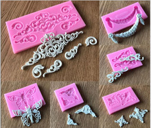 New Arrival Flower Lace Silicone Mold Fondant Cake Cookie Chocolate Mould Embossing Tools MK2372(China)