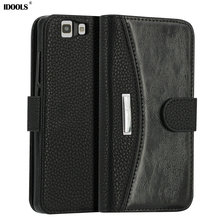 IDOOLS For Doogee X5 Pro Case Quality Picks Soft Silicon Leather Wallet Flip Cover Mobile Phone Cases for Doogee X5 Bags Shell(China)