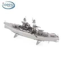 Toeesi PP Boxed Metal DIY Assembly Model 3D Stereo Puzzle Arizona Battleship English Version PU197
