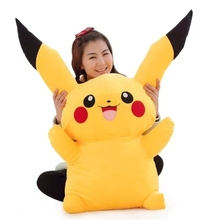 2016 new High Quality 120cm Japan Anime Pikachu Stuffed Soft Plush Giant Pikachu Toy Nice Present for Baby(China)