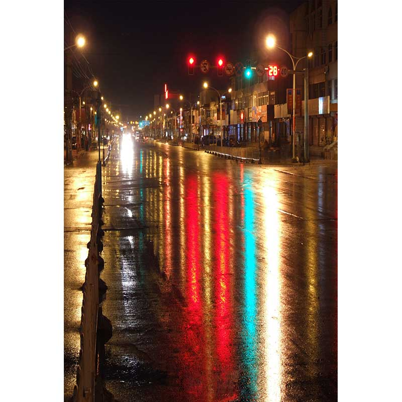 Street neon glow photo background city night scene photography backdrop for photo studio props photophone CM-6987<br>