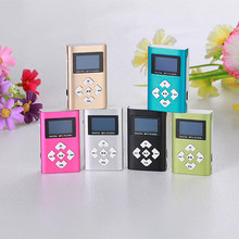 USB Mini MP3 Player LCD Screen Support 8GB Micro SD TF Card Fashion Convenience 17Sept6