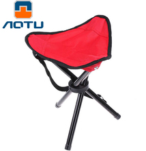 AOTU Large Three Legged Fishing Stool Outdoor Portable Folding Fishing Stool Picnic Chair Folding Camping Chair(China)