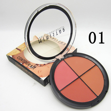 2017Hot Sale Face Makeup Blush Palette Waterproof  4 Colors/set Blusher Mineral Cheek Blusher Powder Bronzer Counter Maquiagem