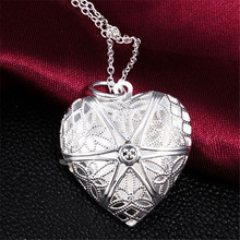 H:HYDE Fashion Jewelry Silver color Openable Heart Necklace & Pendant Accessories Women Creative Valentines Gift