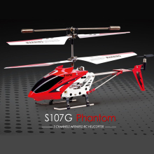 SYMA S107G RC Helicopter with GYRO Colorful Flashing Light Anti-Shock RC Toy Electronic Toys Remote Control Helicopters 2.4G 3CH