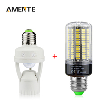 PIR Infrared Motion Sensor Induction Base E27 LED Lamp Holder 5736 SMD High Lumen LED Corn Bulb AC 85V-265V 3W 5W 7W 9W 12W 15W