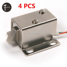4 PCS DC12V/350MA Cabinet Door Electric Lock Assembly Solenoid High Quality Ultra-Compact Locks