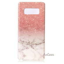 For Samsung Galaxy Note 8 Case Marble Pattern IMD TPU Back Cell Phone Cover Case For Samsung Note 8 N950(China)