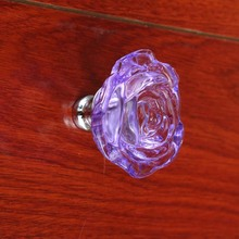 55mm*46mm bigger size glass rose wardrobe wine cabinet bookcase handles knobs silver colorful crystal drawer knobs pink blue