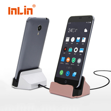 Original 2-in-1 Sync Data Fast Charging Dock Station Desktop Cradle Stand Docking Charger For iPhone Android Micro USB Type c(China)