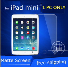 front lcd frosted matte protective screen protector for ipad mini 1 2 3 film guard anti glare carton package & can check online(China)