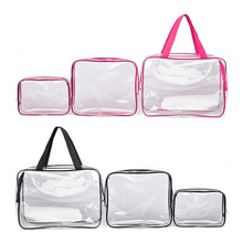 3pcs Hanging Organizer Organizador Transparent Travel Pouch Plastic Bags with Zipper Portable Toiletry Makeup Bag Waterproof