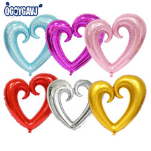 QGQYGAVJ 100cm*108cm light 1pcs Large hook heart shape foil balloons heart balloon wedding party decoration marriage balloons(China)