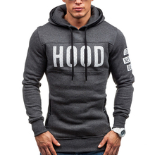 2017 Hoodies Brand Men Chest Letter Printing Sweatshirt Male Hoody Hip Hop Autumn Winter Hoodie Mens Pullover XXXL(China)