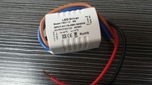 5 pcs/lot 6 x1W LED Driver 500MA LED Transformer AC 170-260V DC 12V power supply For Lamp lighting