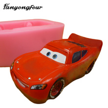 3D Car Cake Mold Silicone Mold Chocolate Gypsum Candle Soap Candy Mold Kitchen Bake Free Shipping