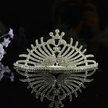 2017 Fashion Jewelry Bride Wedding Hair Accesories Imperial Crown European Design Crystal Bridal Hair Comb Tiara Marry Headwear