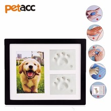 Petacc Pet Memorial Picture Frame Pet Paw Print Photo Frame Kit Pet Keepsakes Kit for Cats and Dogs with Clays for Room Wall(China)