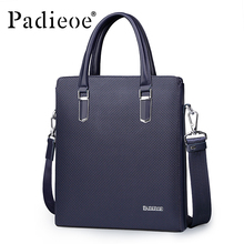 Padieoe Hot SALE Luxury High Quality Business Men's Tote Bag Durable PVC Shoulder Bag Deluxe Fashion Casual Plaid Crossbody Bag(China)