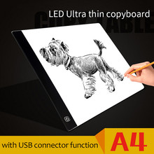 DROPSHIPPING Ultra Thin Pratical  A4 LED Drawing Board   Animation Copy Tracing Pad Board LED Light Box drawing Tablet Kid Toy