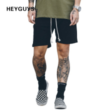 2017 HEYGUYS new classic plaind sweat short men do old render board Tie shorts men workout high waist mesh shorts jumpsuit hip(China)