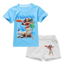 Girls Clothes Sets 2017 New Baby Girls Clothes T-shirt+Pants MOANA Print Costume For Kids Outfit Girls Suit Children Clothing