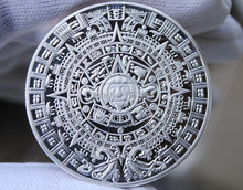 Hot Wholesale Nice silver clad replica Mayan 2012 Prophecy Coin
