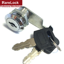 Rarelock 4 Size Security Drawer Cam Lock Cylinder Door Mailbox Cabinet Tool Box Lock 2 Keys Hardware Locks(China)
